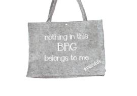 Vilten tas 'Nothing in this bag belongs to me'