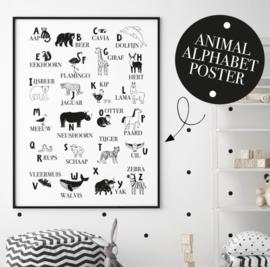 Poster kinderkamer -  Dieren alfabet