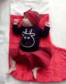 Shirt Funny Rudolph | Cirkelrokje Wine Red