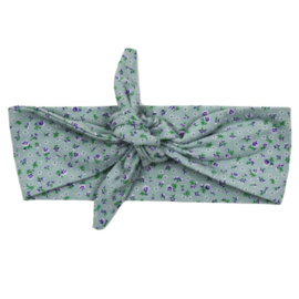 Haarband  - Mini Flower Old Green