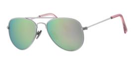 Kinder zonnebril - 0 tot 4 jaar D&D - Sophisticated -Silver/Pink