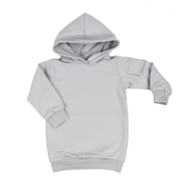 Baggy Hoodie dress 'Sleet' - zijzakje