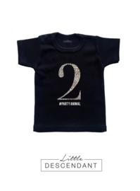 verjaardag shirt 2 jaar -  luipaard print