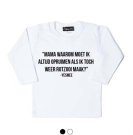 shirt met jouw eigen quote