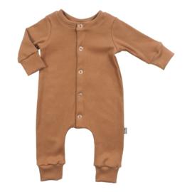 NEWBORN - Boxpakje - Baby Jumpsuit Rib Nutmeg Bruin