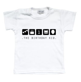 Kinderverjaardag shirt 'The birthday kid'