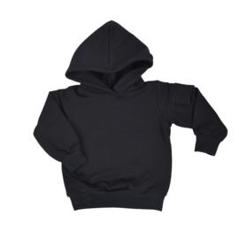 Hoodie met klepzakje - Black