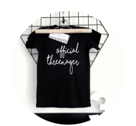 verjaardag shirt 3 jaar - 'Official Threenager'