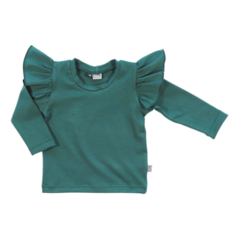 Ruffle top - Evergreen