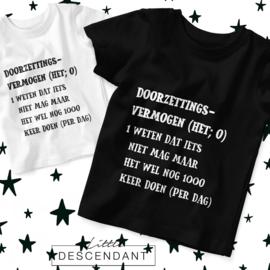 Kinder shirt - Doorzettings vermogen