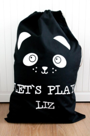 Speelgoed zak met eigen naam 'Panda'