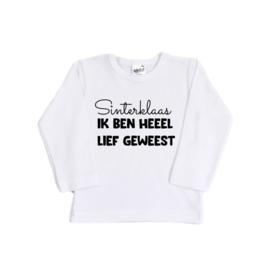 Sinterklaas shirt ' Sinterklaas, ik ben heel lief geweest'