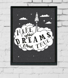 babykamer en kinderkamer Poster 'make your dreams come true'