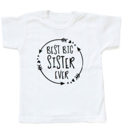 Grote zus shirt 'Best big sister ever'