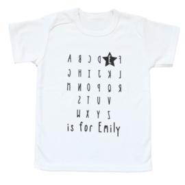 Naam shirt 'abc'