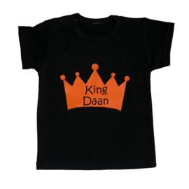 Koningsdag shirt kind - King (jouw naam)