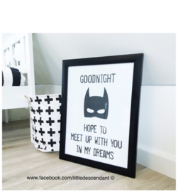 Babykamer en kinderkamer Poster 'Goodnight, hope to meet up with you in my dreams'