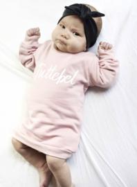 Baggy Sweaterdress met opdruk 'Tuttebel'