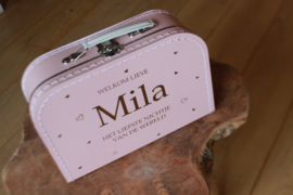 Kraamcadeau - koffertje met naam  ontwerp  1