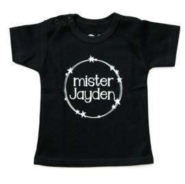 Naam shirt 'Mister .. eigen naam'