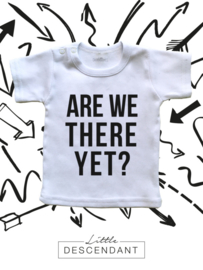 Grappig kinder vakantie shirt 'Are we there yet?'.