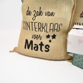 Jute zak met eigen naam - Sinterklaas cadeautjes zak