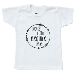 Klein broertje shirt 'Coolest little brother ever'
