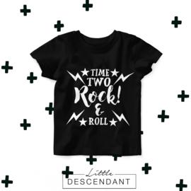 Verjaardag shirt 2 jaar- Time two rock & roll