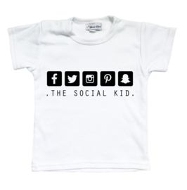 Shirt 'The social kid'