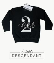 verjaardag shirt 2 jaar - sweater  '2 wild'