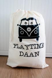 Speelgoed zak met naam 'Bus'
