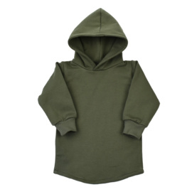 Baggy Hoodie dress - Khaki Green