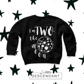 verjaardag shirt 2 jaar - 'Two the moon'