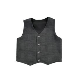 Gillet Checkered Dark Grey