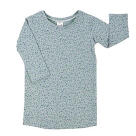 T-shirt Dress 'Mini Flower Old Green'