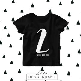 Verjaardag shirt 2 jaar-'Ik ben TWEE en ik zeg nee'