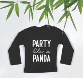Kinderverjaardag shirt 'Party like a panda'