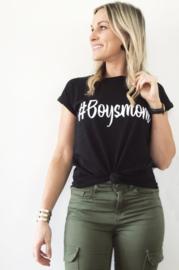 Dames shirt - '#Boysmom'