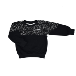 Exclusieve Sweater 2-colour | Black & Funky Stripes