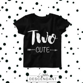 Verjaardag shirt 2 jaar- TWO cute