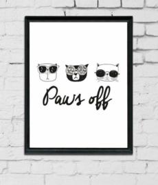 Babykamer en kinderkamer Poster - 'Paws off'