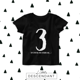 verjaardag shirt 3 jaar - Ik ben 3 en ik luister nog steeds nie..