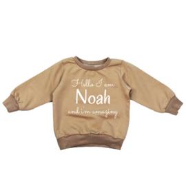 Mokka naam sweater - 'Hello my name is .. '