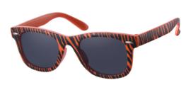 Kinder zonnebril D&D -Fashionista - Zebra Orange - 0 tot 4 jaar