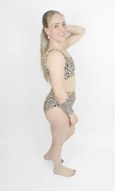 Dames Highwaist Bikini Set Sport| Leopard Dierenprint