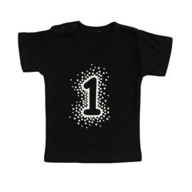 Verjaardag shirt met leeftijd  - dots (iedere leeftijd mogelijk)