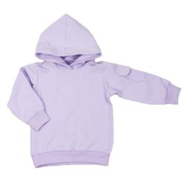 Kinder hoodie met klepzakje - Purple rose