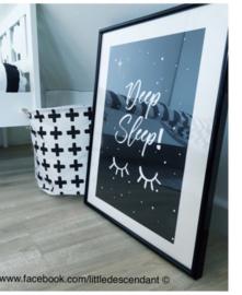 Babykamer en kinderkamer Poster 'deep sleep'