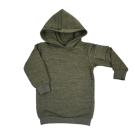 Baggy Hoodie dress 'Military Olive' - zijzakje