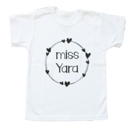 Naam shirt 'Miss.. eigen naam'